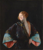 Joseph Rodefer DeCamp - The Blue Mandarin Coat (The Blue Kimono), 1922