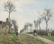 Camille Pissarro - Road to Marly, ca. 1870