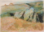 Edgar Degas - Landscape with Rocks, 1892