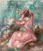 Pierre Auguste Renoir - Woman Arranging Her Hat, ca. 1890