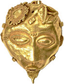 Baule Artist - Miniature Mask Pendant, Nineteenth century or earlier