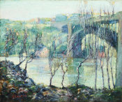 Ernest Lawson - Washington Bridge, Harlem River, ca. 1915