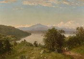 John Frederick Kensett - Camel's Hump from the Western Shore of Lake Champlain, 1852