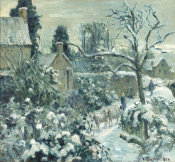 Camille Pissarro - Snowscape with Cows at Montfoucault, 1874
