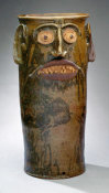 Miles Mill Pottery - Face Jar, ca. 1870