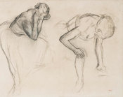 Edgar Degas - Study of Two Dancers, ca. 1885
