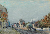 Alfred Sisley - Une rue à Marly, 1876