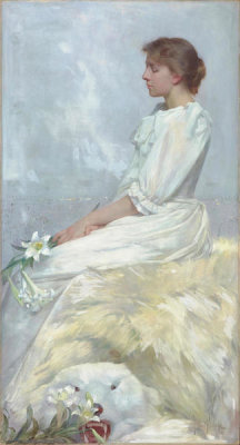 Albert Herter - Portrait of Bessie (Miss Elizabeth Newton), 1892