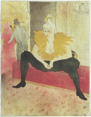 Henri de Toulouse-Lautrec - Elles: The Seated Clowness, Miss Cha‑u‑Kao (La Clownesse assise; Mademoiselle Cha‑u‑Kao), 1896