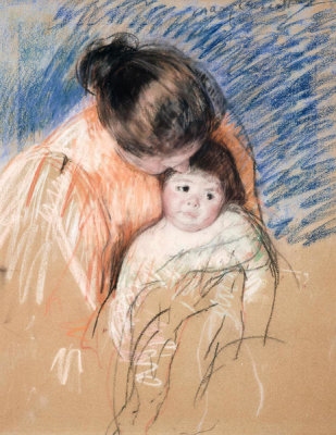 Mary Cassatt - Sketch of a Mother Looking Down at Thomas, ca. 1893