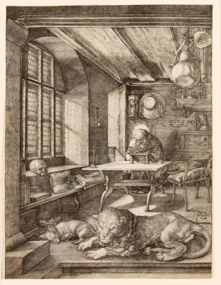 Albrecht Dürer - Saint Jerome in his Study, 1514