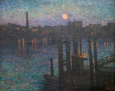 Maximilien Luce - Port of London, Night, 1894