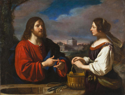 Il Guercino - Christ and the Samaritan Woman, ca. 1650