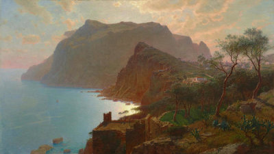 William Stanley Haseltine - The Sea from Capri, 1875