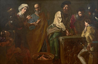 Nicolas Tournier - The Denial of St. Peter, ca. 1630