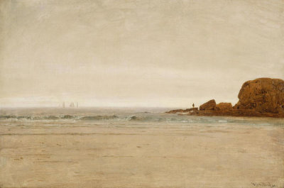 Thomas Worthington Whittredge - Beach and Rocks, 1870-1880
