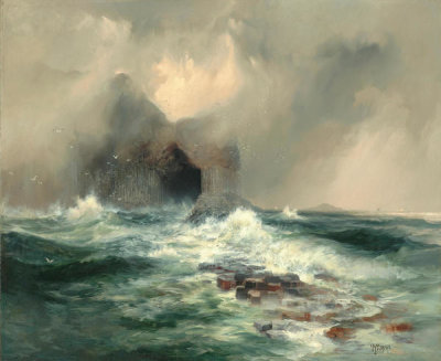 Thomas Moran - Fingal's Cave, Island of Staffa, Scotland, 1884-1885