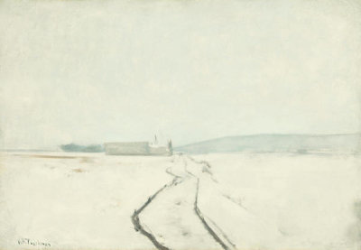 John Henry Twachtman - Along the River, Winter, ca. 1889
