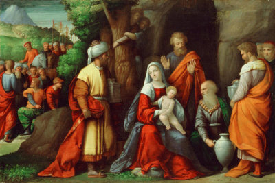 Benvenuto Tisi - Adoration of the Magi, ca. 1534