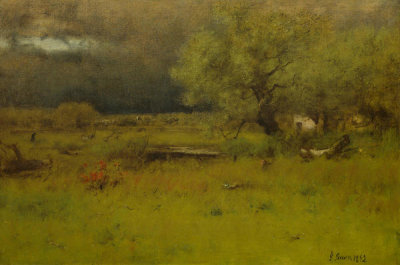 George Inness - The Passing Storm, 1892