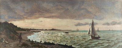 Frederic Bazille - The Beach at Sainte-Adresse, 1865
