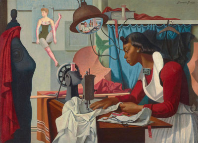 Francis Criss - Alma Sewing, ca. 1935