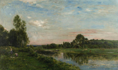 Charles-Francois Daubigny - Banks of the Oise River, 1875
