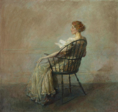 Thomas Wilmer Dewing - A Reading (or Woman in Windsor Chair), ca. 1909