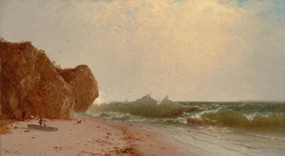 John Frederick Kensett - The Seashore, 1863