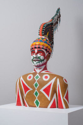 Eddie Owens Martin - Pasaquoyan Man with Ritual Headdress and Levitation Suit, ca. 1965-1975