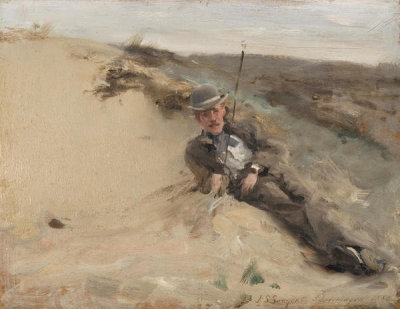 John Singer Sargent - Portrait of Ralph Curtis on the Beach at Scheveningen, 1880