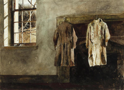 Andrew Wyeth - Study for The Quaker, 1975