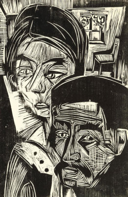 Ernst Ludwig Kirchner - Heads, early twentieth century